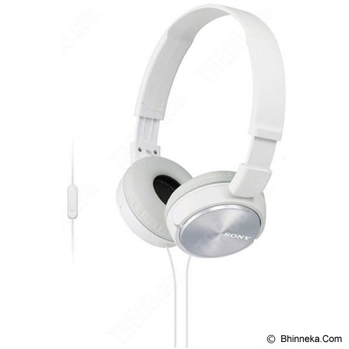 SONY Headphone [MDR ZX-310AP] - White - Headphone Portable